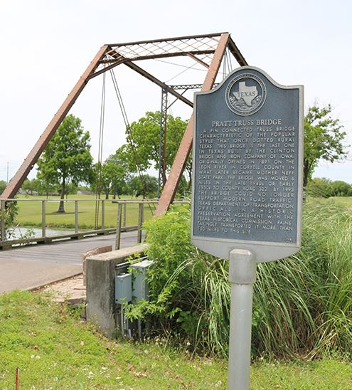Bridge with Historical Marker at Battleground Golf Course