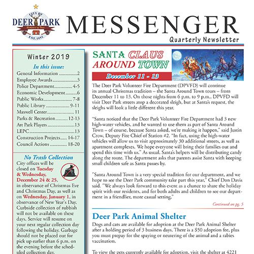 Winter Messenger cover
